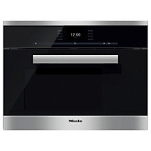 Buy Miele DG6600 PureLine Single Electric Steam Oven, Clean Steel Online at johnlewis.com