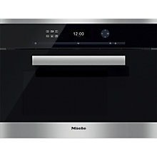 Buy Miele DG6401 PureLine Single Electric Steam Oven, Clean Steel Online at johnlewis.com