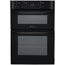 Buy Hotpoint DH53CKS Double Electric Oven, Black Online at johnlewis.com