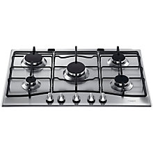 Buy Hotpoint GC750TIX Gas Hob, Stainless Steel Online at johnlewis.com