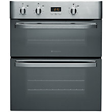 Buy Hotpoint UHS53XS Double Electric Oven, Mirrored Stainless Steel Online at johnlewis.com