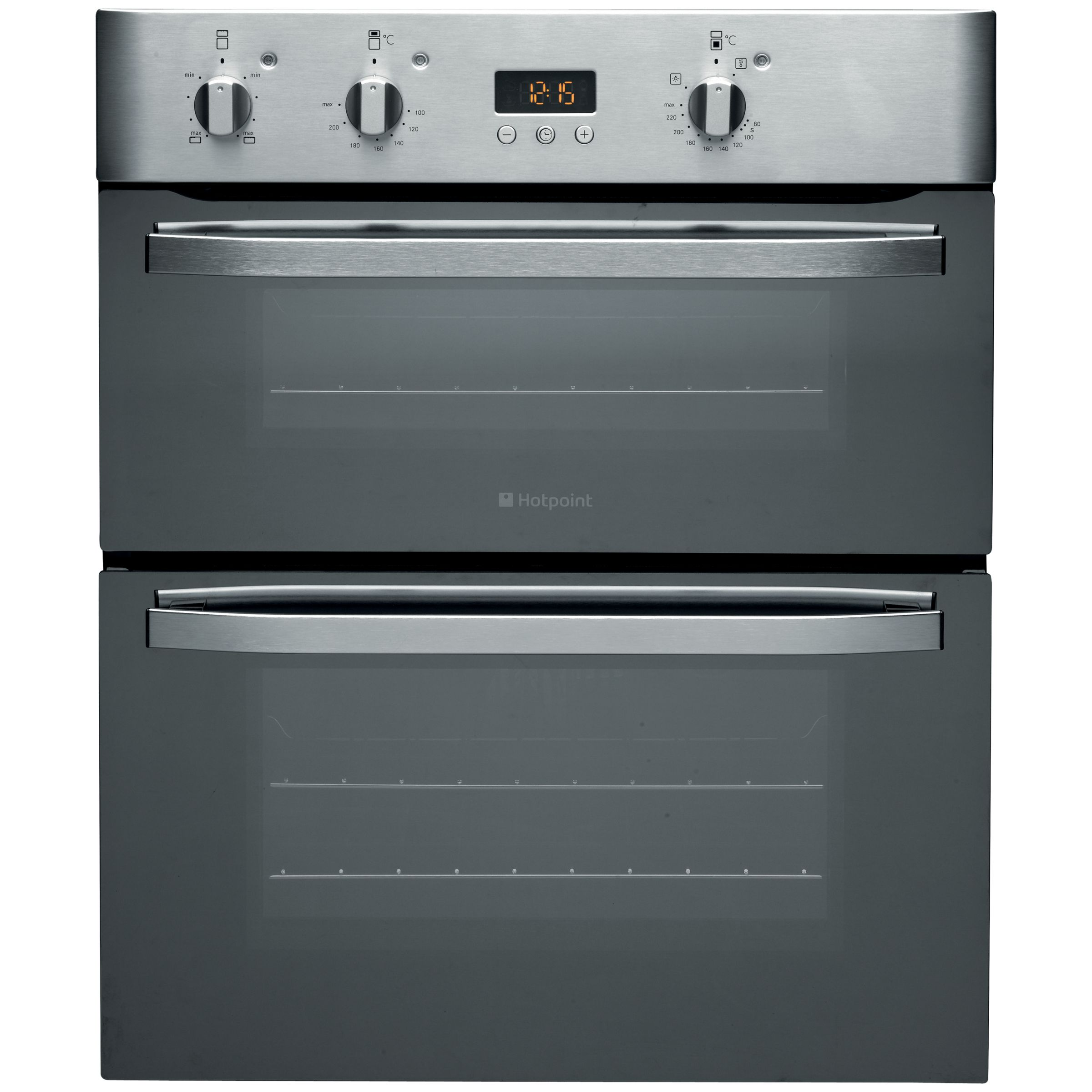 Hotpoint UHS53XS Double Electric Oven Mirrored Stainless Steel