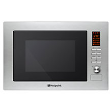 Buy Hotpoint MWH222.1X Built-in Microwave and Grill, Stainless Steel Online at johnlewis.com
