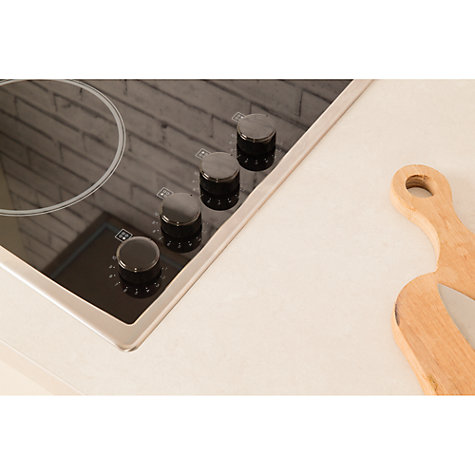 Buy Hotpoint CRM641DX Ceramic Hob, Black Online at johnlewis.com