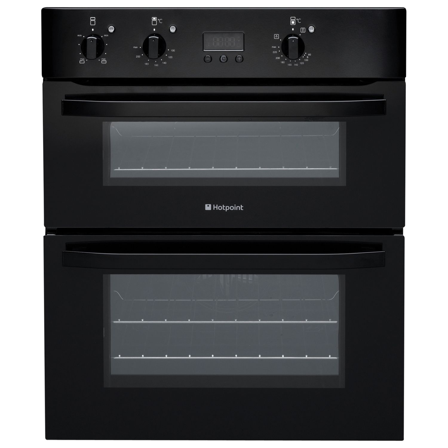 Hotpoint UH53KS Double Electric Oven Black