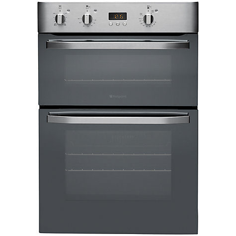 Buy Hotpoint DHS53CXS Double Electric Oven, Stainless Steel Online at johnlewis.com