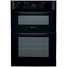 Buy Hotpoint DH53BK Double Electric Oven, Black Online at johnlewis.com