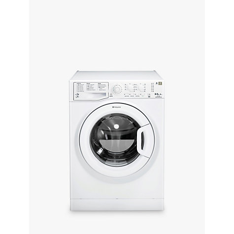 Buy Hotpoint WDAL8640P Washer Dryer, 8kg Wash/6kg Dry Load, A Energy Rating, 1400rpm Spin, White Online at johnlewis.com