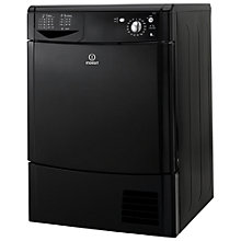 Buy Indesit IDC85K Condenser Tumble Dryer, 8kg Load, C Energy Rating, Black Online at johnlewis.com