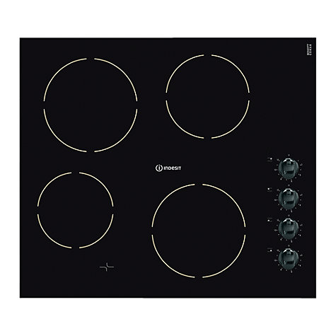 Buy Indesit VRM640MC Ceramic Hob, Black Glass Online at johnlewis.com