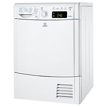 Buy Indesit IDCE8450BH Condenser Tumble Dryer, 8kg Load, B Energy Rating, White Online at johnlewis.com