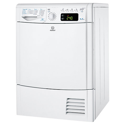 Buy Indesit IDCE8450B Condenser Tumble Dryer, 8kg Load, B Energy Rating Online at johnlewis.com