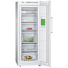 Buy Siemens GS29NVW30G Tall Freezer, A++ Energy Rating, 60cm Wide, White Online at johnlewis.com