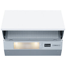 Buy Neff D2654X0GB Integrated Cooker Hood, Silver Online at johnlewis.com