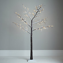 Buy John Lewis Outdoor Pre-lit Multi Function Snowy Paper Tree, 6.5ft Online at johnlewis.com