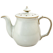 Buy Denby Linen Teapot Pepper Pot, Natural Online at johnlewis.com