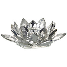 Buy Parlane Crystal Lotus Tealight Holder, Small Online at johnlewis.com