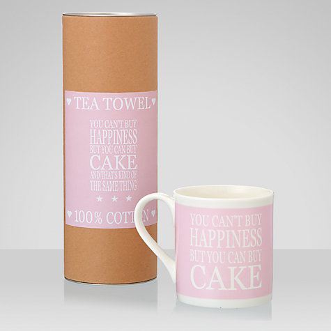 Buy Green & Co. Cake Tea Towel and Mug Set Online at johnlewis.com