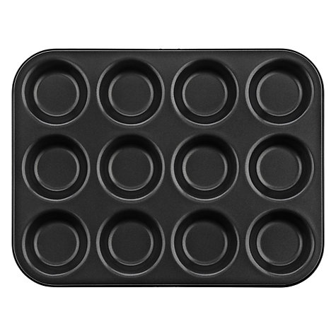 Buy John Lewis Non Stick 12 Cup Muffin Tray, L34cm Online at johnlewis.com