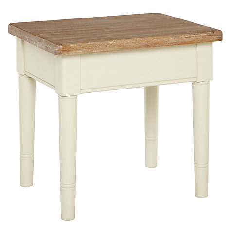 Buy John Lewis Drift Nest of 2 Tables, Cream Online at johnlewis.com