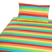 Buy John Lewis Rainbow Stripe Cotbed Duvet Cover and Pillow Case Set, Multi Online at johnlewis.com