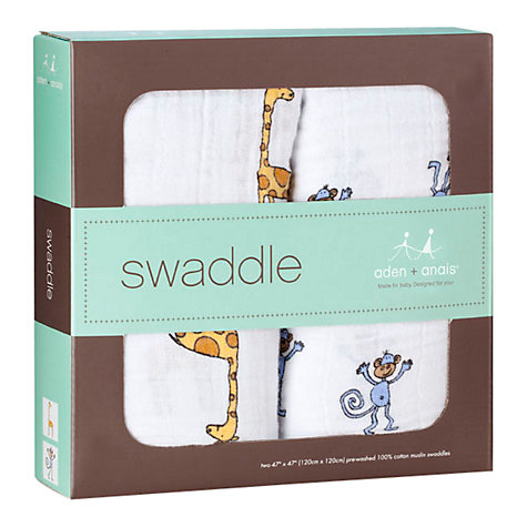 Buy Aden + Anais Jungle Jam Swaddle Baby Blankets, Pack of 2 Online at johnlewis.com
