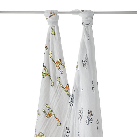 Buy Aden + Anais Jungle Jam Swaddle Blankets, Pack of 2 Online at johnlewis.com