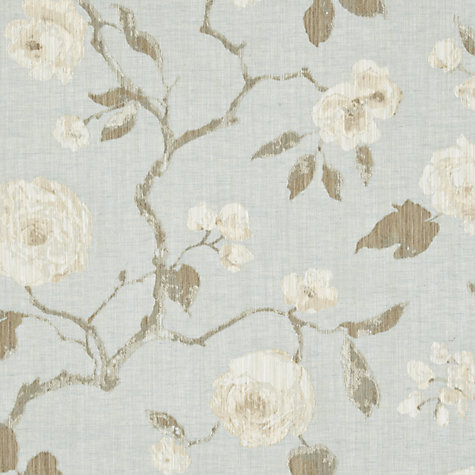 Buy John Lewis Linen Rose Woven Jacquard Fabric, Duck Egg, Price Band E Online at johnlewis.com