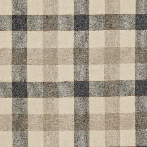Buy John Lewis Rupert Woven Wool Fabric, Black, Price Band F Online at johnlewis.com