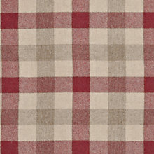 Buy John Lewis Rupert Woven Wool Fabric, Crimson Red, Price Band F Online at johnlewis.com