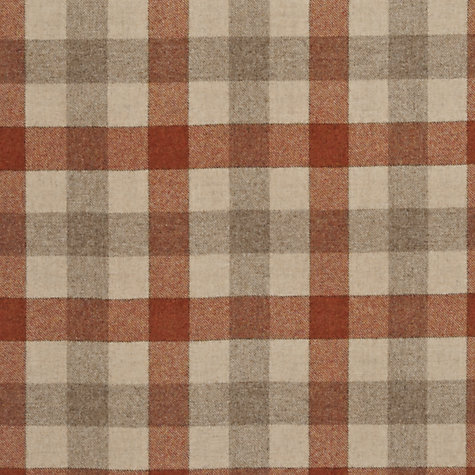 Buy John Lewis Rupert Woven Wool Fabric, Orange, Price Band F Online at johnlewis.com