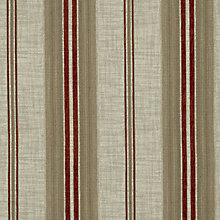 Buy John Lewis Sidney Woven Stripe Fabric, Crimson Red, Price Band B Online at johnlewis.com