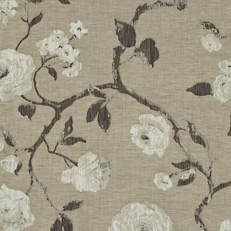 Buy John Lewis Linen Rose Woven Jacquard Fabric, Natural, Price Band E Online at johnlewis.com