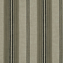 Buy John Lewis Sidney Woven Stripe Fabric, Black, Price Band B Online at johnlewis.com