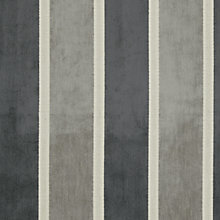 Buy John Lewis Whitby Woven Stripe Fabric, Charcoal, Price Band C Online at johnlewis.com