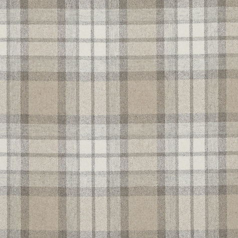 Buy John Lewis Beatrix Woven Check Fabric, Natural, Price Band E Online at johnlewis.com