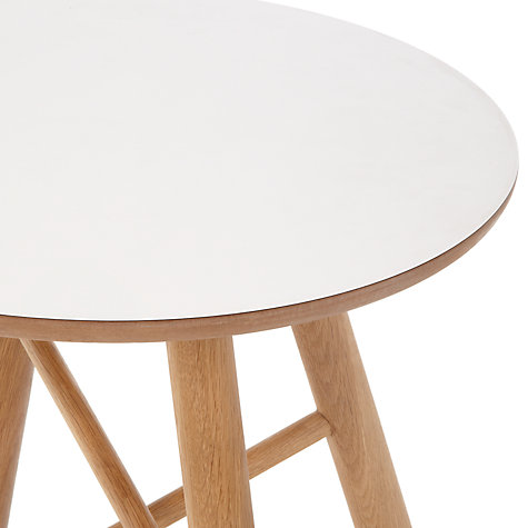 Buy Says Who for John Lewis Why Wood Side Table, White/Natural Online at johnlewis.com