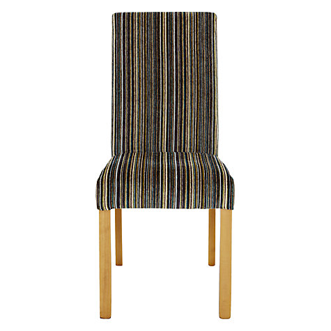 Buy John Lewis Orly Upholstered Chair, Aubergine Matisse Stripe Online at johnlewis.com