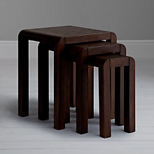 Buy John Lewis Marco Nest of 3 Side Tables, Dark Online at johnlewis.com