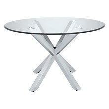 Buy John Lewis Star 4 Seater Glass Dining Table Online at johnlewis.com