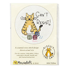 Buy Mouseloft Can't Resist Cat Cross Stitch Kit Online at johnlewis.com
