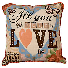 Buy Anchor All You Need Is Love Tapestry Cushion Cover Kit Online at johnlewis.com