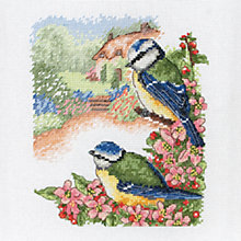 Buy Anchor Blue Tits Cross Stitch Kit Online at johnlewis.com