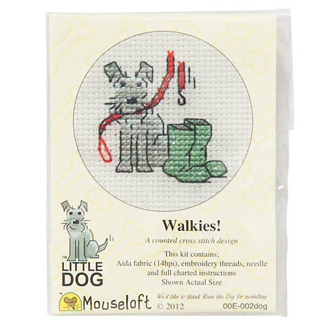 Buy Mouseloft Walkies! Dog Cross Stitch Kit Online at johnlewis.com