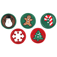Buy Jesse James Round Character Buttons, Pack of 5 Online at johnlewis.com