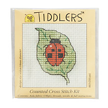 Buy Tiddlers Ladybird On Leaf Cross Stitch Kit Online at johnlewis.com