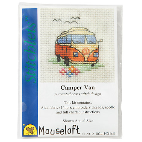 Buy Mouseloft Camper Van Cross Stitch Kit Online at johnlewis.com