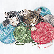 Buy Anchor Kittens Cross Stitch Kit Online at johnlewis.com
