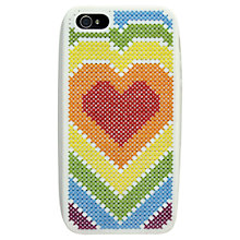 Buy Anchor Heart Mobile Case Heart Cross Stitch Kit Online at johnlewis.com