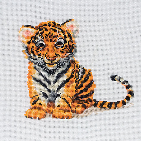 Buy Anchor Tiger Cub Cross Stitch Kit Online at johnlewis.com